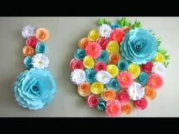 Simple Home Decor Wall Decoration Door Hanging Flower Paper Craft Ideas Loop Leading Inspiration Magazine Database