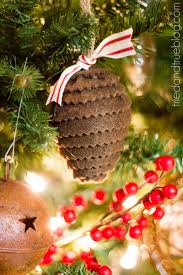 Pine Cone Christmas Tree Ornaments Crafts by All Hearts Go Home
