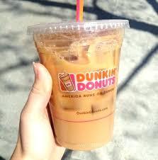 Pumpkin Iced Coffee Dunkin Donuts Med Frozen