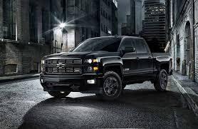 100 All Black Truck Midnight Special Chevy Silverado Package Medium Duty Work Info