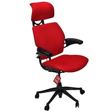 humanscale freedom hi back chair with red headrest 2ndhnd com