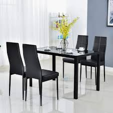 Bonnlo Modern 5 Pieces Dining Table Set Glass Top Dining Table And Chairs  Set For 4 Person,Black Santa Clara Fniture Store San Jose Sunnyvale Buy Kitchen Ding Room Sets Online At Overstock Our Best Winsome White Table With Leaf Bench Fancy Fdw Set Marble Rectangular Breakfast Wood And Chair For 2brown Esf Poker Glass Wextension Scala 5ps Wenge Italian Chairs Royal Models All Latest Collections Engles Mattress Mattrses Bedroom Living Floridas Premier Baers Ashley Signature Design Coviar With Of 6 Brown