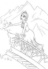 Disney Queen Elsa Coloring Pages Frozen 09341