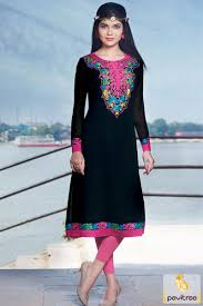 all ages group of ladies wear beautiful black georgette fabric