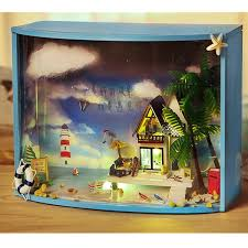 112 Scale Colorful Mail Box Diy Dollhouse Miniature Furniture