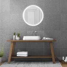 runder badspiegel in 60 80 cm durchmesser mit umlaufender