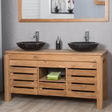 Meuble De Salle De Bain En Teck ZEN Double Vasque 145cm Bathroom