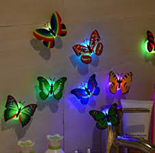 light tuscom 10 pcs led butterfly wall stickers