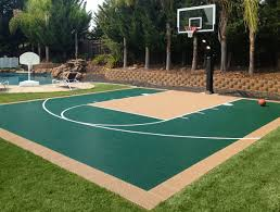 Residential Gallery - SnapSports News Backyard Basketball Court Multiuse Outdoor Courts Sport Sketball Court Ideas Large And Beautiful Photos This Is A Forest Green Red Concrete Backyard Bar And Grill College Park Go Green With Home Gyms Inexpensive Design Recreational Versasport Of Kansas 24x26 With Canada Logo By Total Resurfacing Repairs Neave Sports Simple Hoop Adorable Dec0810hoops2jpg 6 Reasons To Install Synlawn Small Back Yard Designs Afbead
