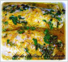 cuisiner du cabillaud dos de cabillaud à l indienne recette du garam masala recettes
