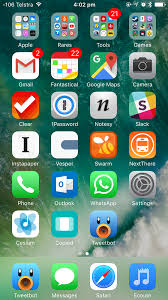My iPhone 7 Home Screen