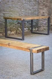 bench top metal outdoor seat gray industrial vintage indoor garden