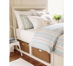 Pottery Barn Seagrass Headboard by Platform Beds With Storage Baskets Stratton Bed Pottery Barn