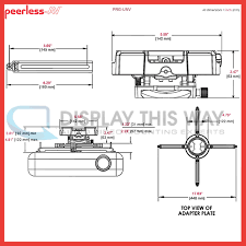 Peerless Cmj500r1 Ceiling Mount For Projector by Peerless Prg Unv Precision Gear Universal Projector Mount