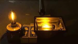 sylvania 70 watt high pressure sodium bulbs turning on