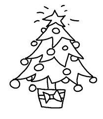 Drawn Christmas Ornaments Line Drawing 8