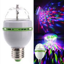 3w e27 rgb rotating led stage light bulb for club dj
