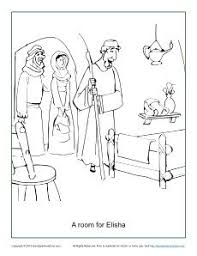 A Room For Elisha Coloring Page Preschool Bible CraftsBible