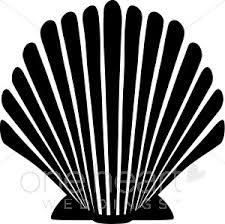Black Seashell Clipart