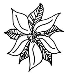 Drawing Of Poinsettia Coloring Page