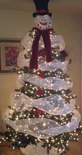 Frosty Snowman Christmas Tree Topper by Snowman Christmas Tree Ideas Christmas Lights Decoration