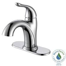 Kraus Faucets Home Depot by Kraus Arcus Single Hole Single Handle Bathroom Faucet In Chrome