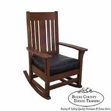 antique mission oak rocker rocking chair possibly stickley ebay