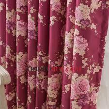 floral rideau en bourgogne couleur polyester matériau