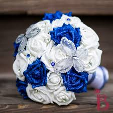 Horizon Blue Wedding Bouquets Silver Butterfly Bouquet Md More Colors The