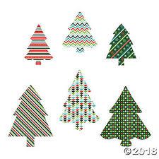 Colorful Christmas Tree Cutouts
