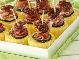 recette canape canapés de polenta jambon tomates recettes femme actuelle