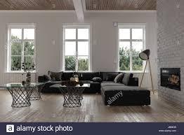 gemütliche sitzecke in einem modernen wohnzimmer interieur