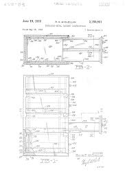 Shaw Walker Fireproof File Cabinet Weight by Patent Us2750901 Insulated Metal Cabinet Construction Google