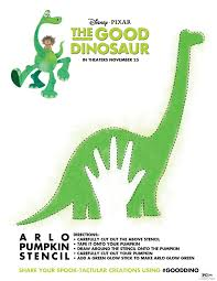 Disney Pumpkin Stencils by Dinosaur Pumpkin Stencil The Good Dinosaur Pumpkin Carving Stencil