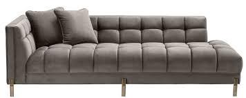 casa padrino luxury lounge sofa gray brass casa padrino luxury lounge sofa gray brass 223 x 95 x h 68 cm left side living room sofa with