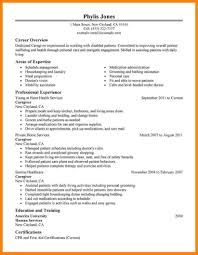 Caregiver Resume Sample Resumebeautiful Reputable Resume ...