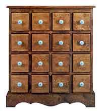 project plan for 16 drawer apothecary chest herbal remedies and