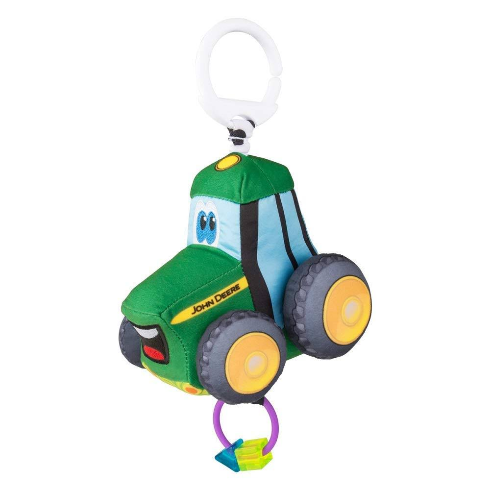 John Deere Baby Clip and Go Plush Toy - Johnny Tractor
