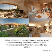 100 Dick Clark Estate Malibu This Single Storey House In Was Inspired By The Flintstones