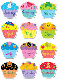 Cupcake clipart monthly 4