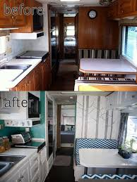 RV Motorhome Interior Remodel Really Like The Brightness After Camper