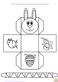 Face Template Hat Easter Colouring Pictures