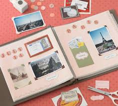 Picture Of Putting A Scrapbook Page Together