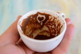 Kismet Heart In Turkish Coffee Stock Photo