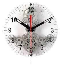 Moving Gear Wall Clock