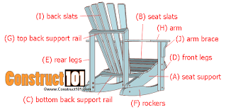 Adirondack Rocking Chair Woodworking Plans by Adirondack Rocking Chair Plans Construct101