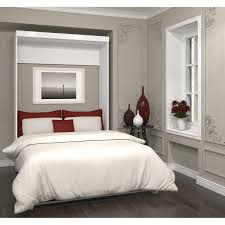 Boutique Full Wall Bed in White