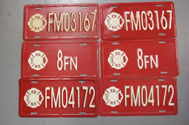 100 Fire Truck Plates License Avatar Film Props