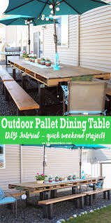 DIY Pallet Outdoor Dining Table - Kleinworth & Co 30 Plus Impressive Pallet Wood Fniture Designs And Ideas Fancy Natural Stylish Ding Table 50 Wonderful And Tutorials Decor Inspiring Room Looks Elegant With Marvellous Design Building Outdoor For Cover 8 Amazing Diy Projects To Repurpose Pallets Doing Work 22 Exotic Liveedge Tables You Must See Elonahecom A 10step Tutorial Hundreds Of Desk 1001 Repurposing Wooden Cheap Easy Made With Old Building Ideas