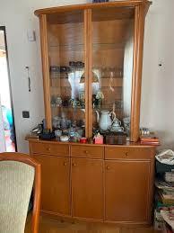 hochwertiger esszimmer geschirrschrank glasvitrine